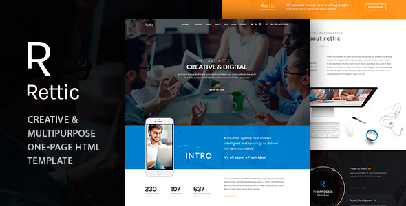Rettic - Multipurpose HTML Template - Corporate Site Templates