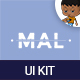 Mal Mobile UI KIT  - GraphicRiver Item for Sale