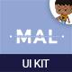 Mal Mobile UI KIT  - GraphicRiver Item for Sale