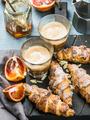 Traditional Italian style home breakfast
