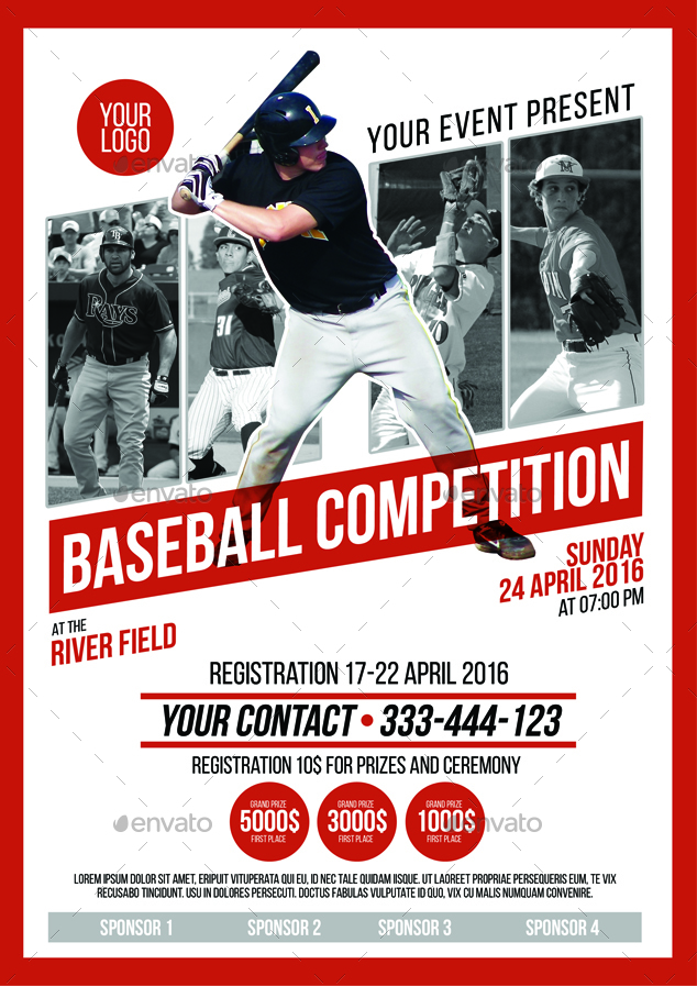 Baseball Flyer Free Baseball Flyer Templates  Best Images Of
