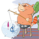 Cat Fisherman - GraphicRiver Item for Sale
