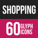 Shopping Glyph Inverted Icons
