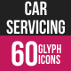 Car Servicing Glyph Inverted Icons