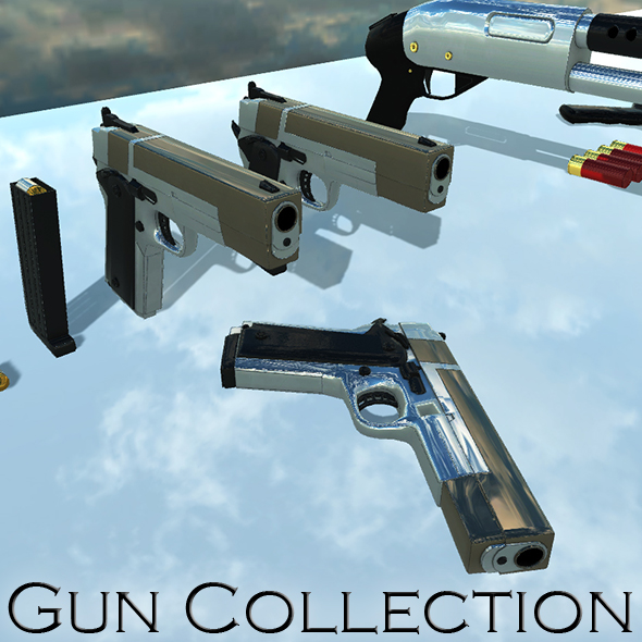 Gun Collection - 3DOcean Item for Sale