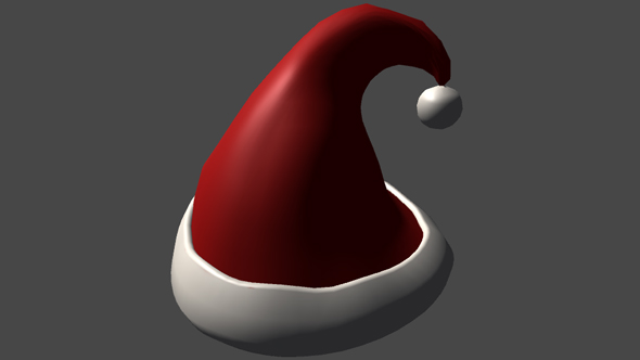 Red Christmas Hat - 3DOcean Item for Sale