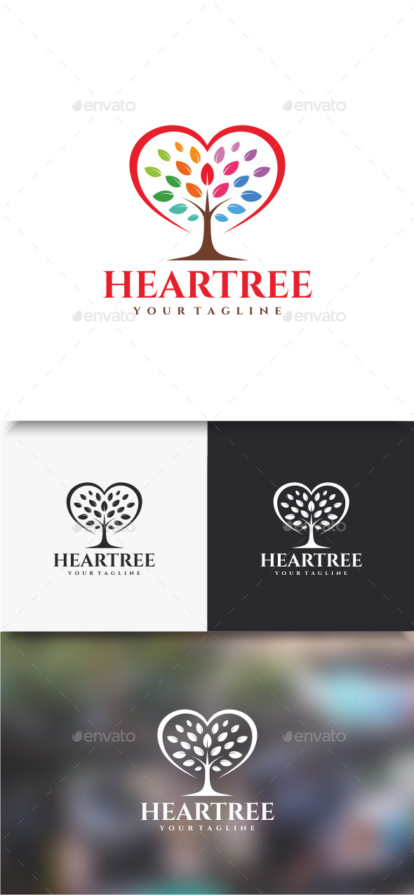 Heartree Logo - Nature Logo Templates