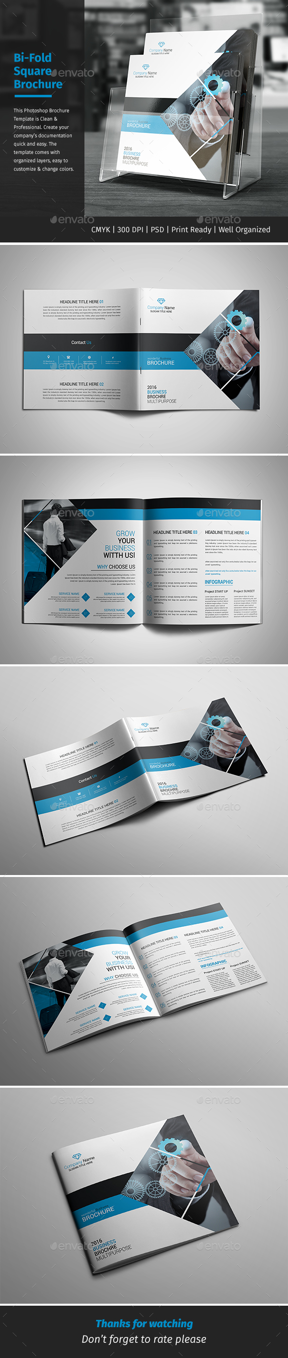 Corporate Bi-fold Square Brochure 02 - Corporate Brochures