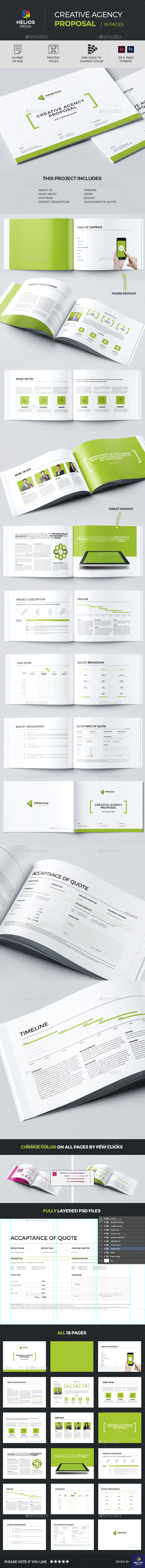 Proposal Template / Horizontal - Proposals & Invoices Stationery