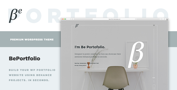 BePortfolio – Behance Projects WordPress Theme