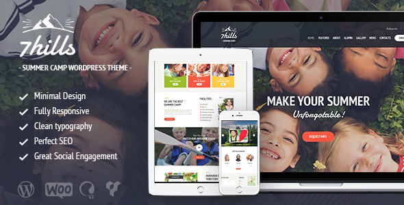 SevenHills – Summer Camp WordPress Theme