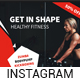 Fitness Gym Instagram Banners - GraphicRiver Item for Sale