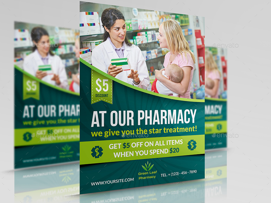Pharmacy Advertising Bundle By Owpictures Graphicriver