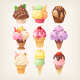Set of Colorful Tasty Isolated Ice Cream - GraphicRiver Item for Sale