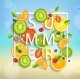 Summer Background With Fruits And Berries.