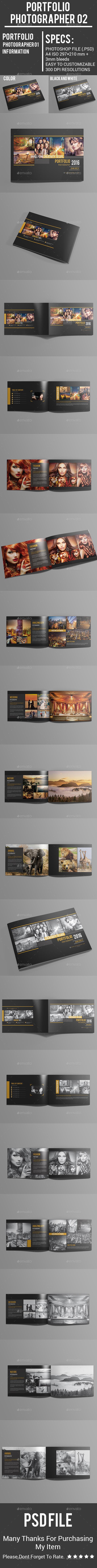 Portfolio Photographer 02 - Photo Albums Print Templates