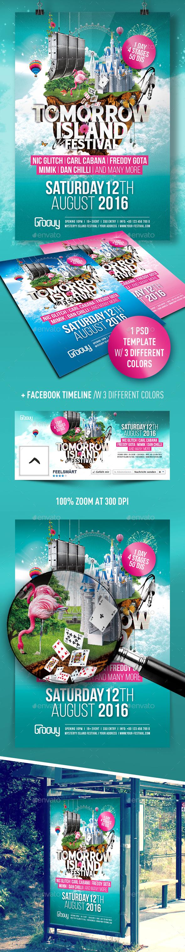Tomorrow Island Festival Flyer - Events Flyers