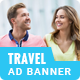 Udaan | Travel HTML 5 Animated Google Banner