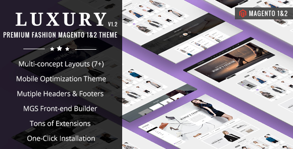 Luxury – Premium Fashion Magento Theme