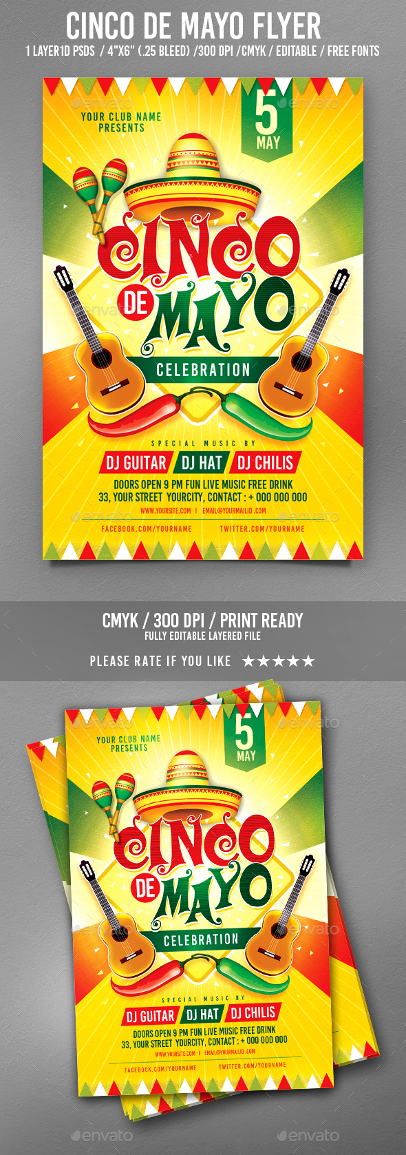 Cinco De Mayo Party - Events Flyers