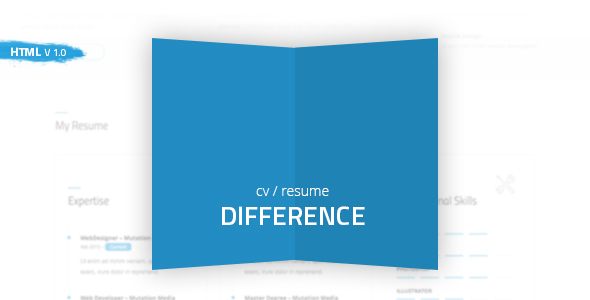 Difference – CV/RESUME TEMPLATE