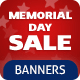 Memorial Day Banners Set - GraphicRiver Item for Sale