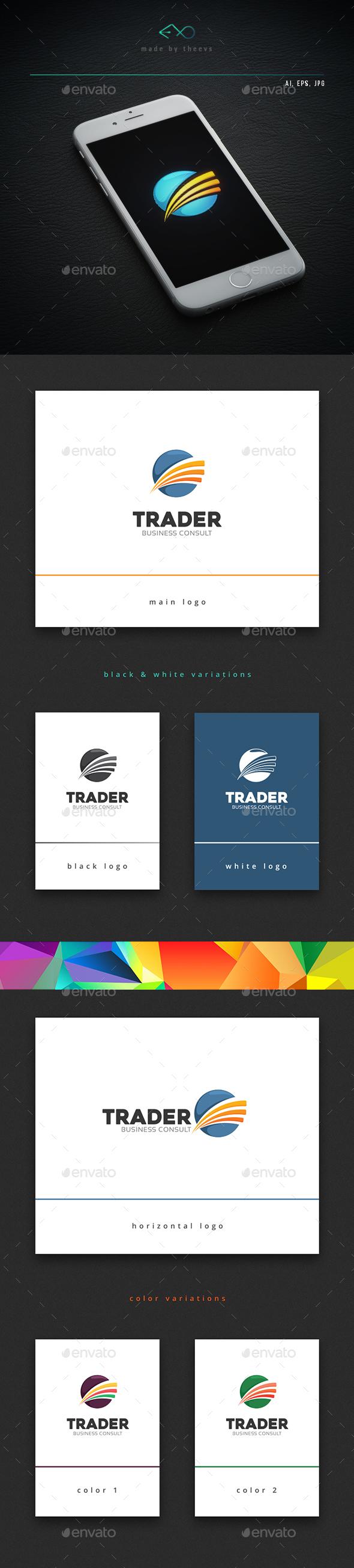 Trader - Vector Abstract