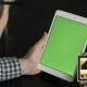 Using Digital Tablet With Green Screen Vertical - VideoHive Item for Sale