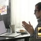 Man Looking At Laptop Screen Says Yes - VideoHive Item for Sale