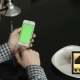 Using Phone Vertical With Green Screen In Home - VideoHive Item for Sale