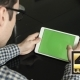 A Man Uses a Horizontal Tablet At His Desk. - VideoHive Item for Sale