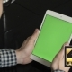 Using Tablet  Vertical Mode At Home Green Screen - VideoHive Item for Sale