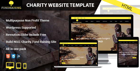 Fundraising – HTML template for charity and donation websites
