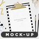 Gold Clipboard Mockup - GraphicRiver Item for Sale