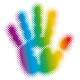 halftone rainbow hand - GraphicRiver Item for Sale
