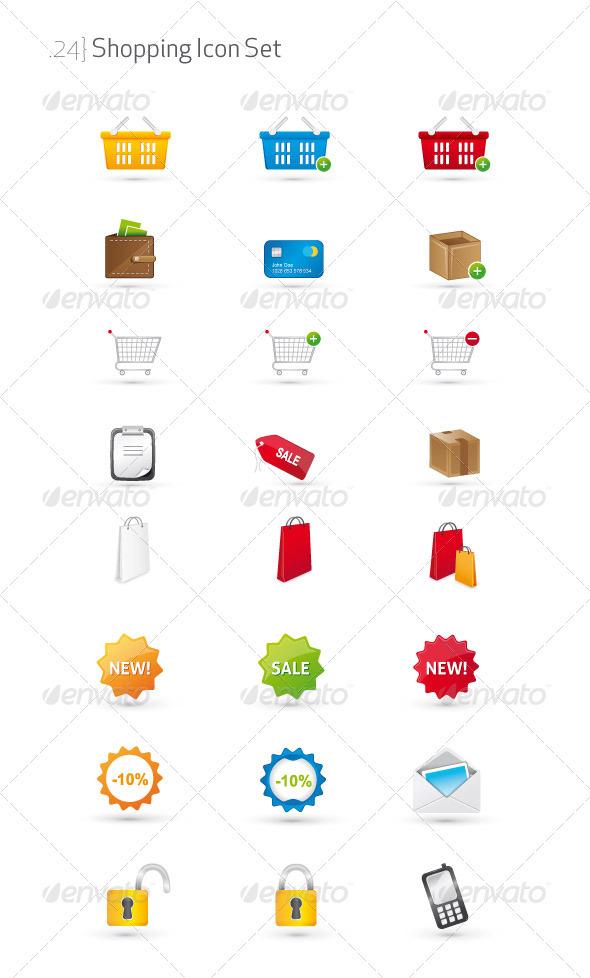 Shopping Icon Set - Web Icons