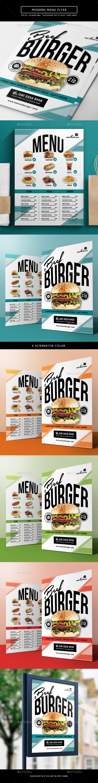 Modern Menu Flyer - Food Menus Print Templates