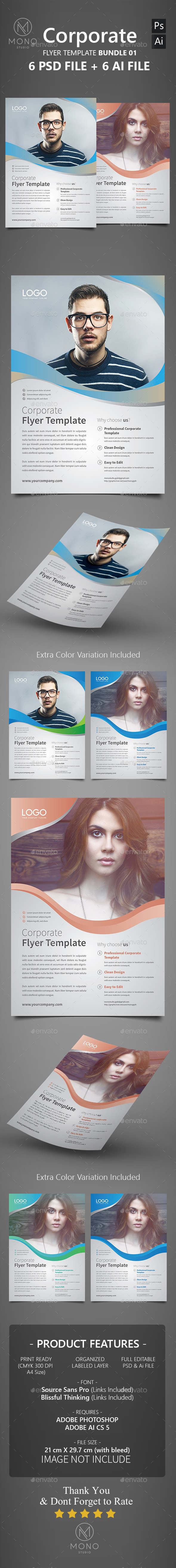 Corporate Flyer Bundle 01 - Corporate Flyers