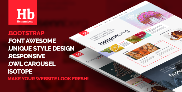 Heisennberg - Creative Responsive HTML Template - Creative Site Templates