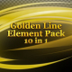 Golden Line Element Pack - VideoHive Item for Sale