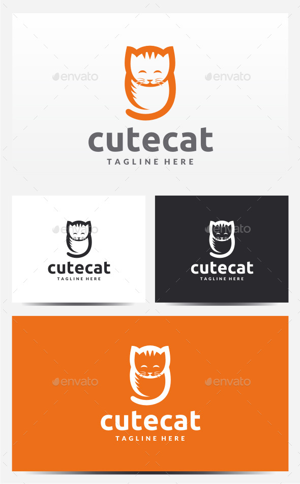 Cat Logo - Animals Logo Templates