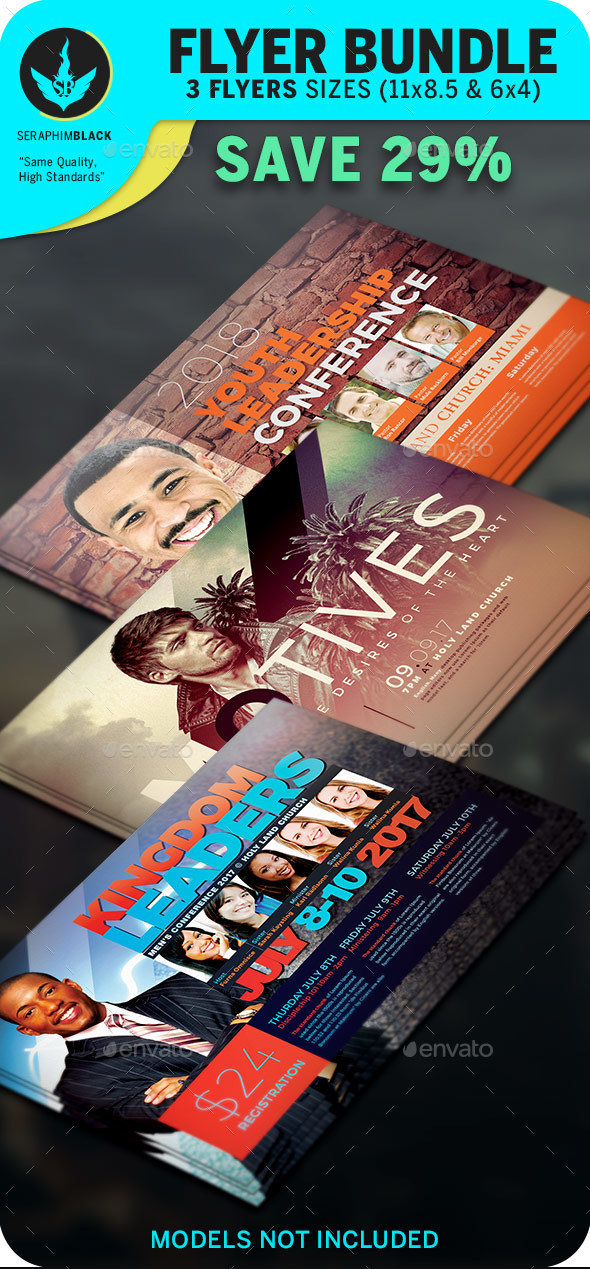 Church Flyer Bundle 4 - Flyers Print Templates
