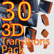 30 3D Transitions Pack - VideoHive Item for Sale