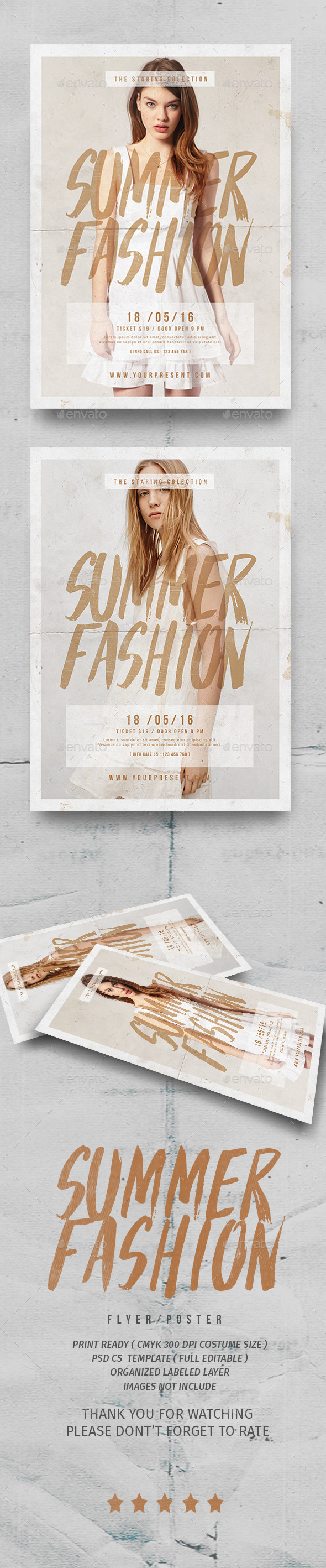Summer Fashion Flyer - Events Flyers
