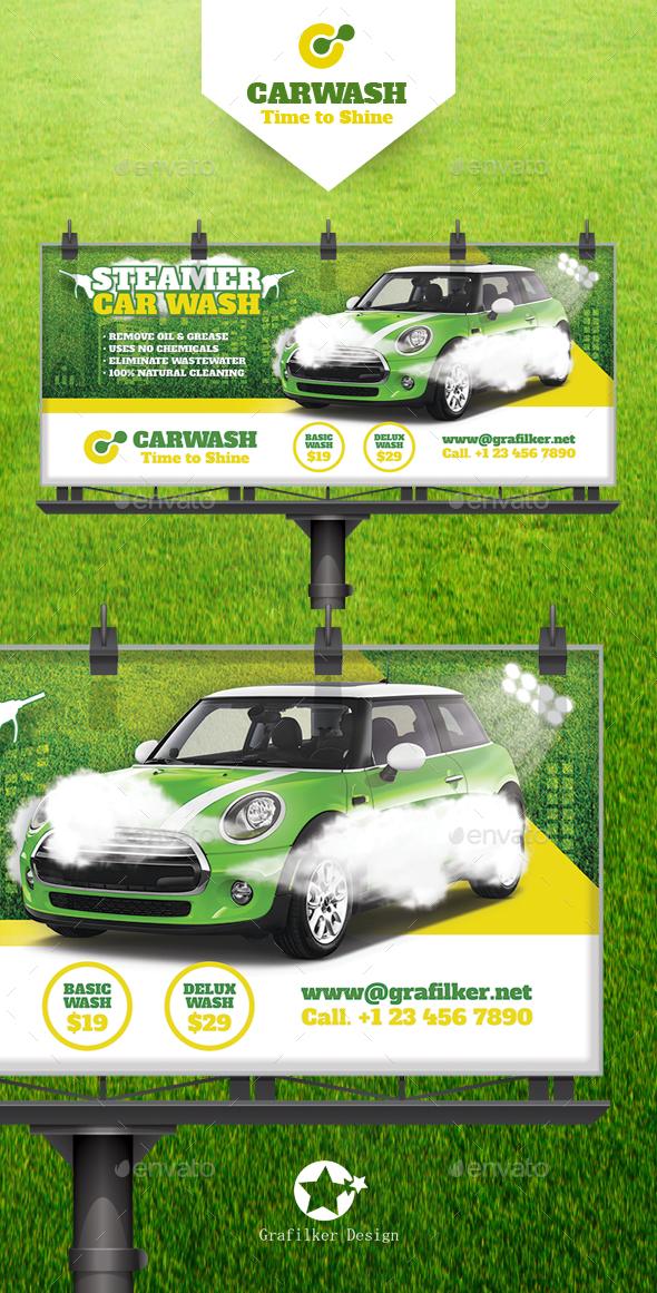 Car Wash Billboard Templates - Corporate Flyers