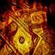 Pile Of Dollars In Flames - VideoHive Item for Sale