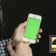 Using Phone  Vertical With Green Screen In Cafe - VideoHive Item for Sale
