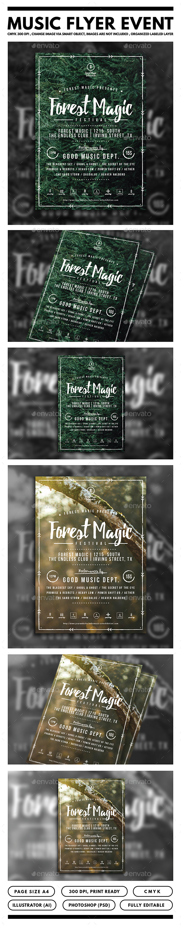 Forest Magic Festival Flyer - Events Flyers