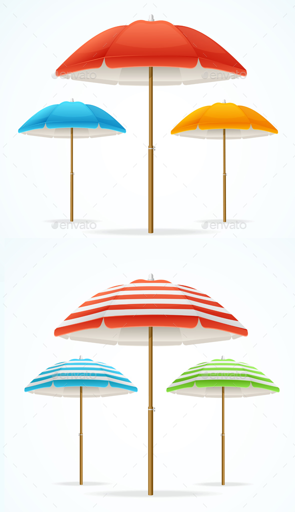 Beach Umbrella Set - Man-made Objects Objects