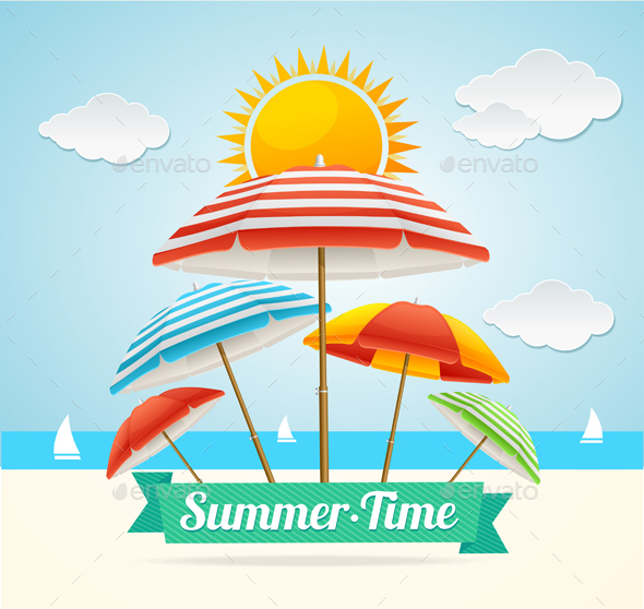 Summer Card. Vector - Travel Conceptual